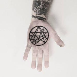 Sigil Tattoo by Josef Batar #JosefBatar #Esoteric #Esoterictattoo #Esoterictattoos #sigil #occult #darkart