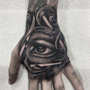 All seeing eye tattoo by India Eden #IndiaEden #allseeingeye #allseeingeyetattoo #eye #eyetattoo #eyeball