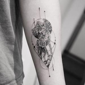 Wolf tattoo by Torocsik Daniel #TorocsikDaniel #wolftattoo #wolftattoos #wolf #animal #nature #wolves