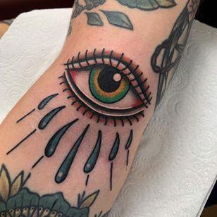 All seeing eye tattoo by holmestattooer #holmestattooer #allseeingeye #allseeingeyetattoo #eye #eyetattoo #eyeball
