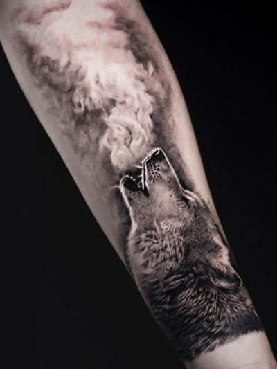 Wolf tattoo by Shine Tattoos #ShineTattoos #wolftattoo #wolftattoos #wolf #animal #nature #wolves