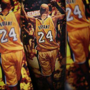 Kobe Bryant tattoo by olegtattoo #olegtattoo #kobebryanttattoo #kobebryant #Lakers #24 #basketball #sports #memorialtattoo