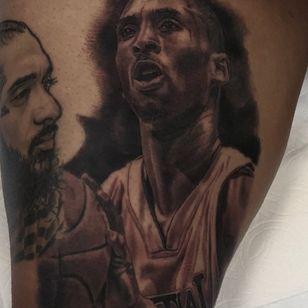Kobe Bryant tattoo by Drew Dimas #DrewDimas #kobebryanttattoo #kobebryant #Lakers #24 #basketball #sports #memorialtattoo