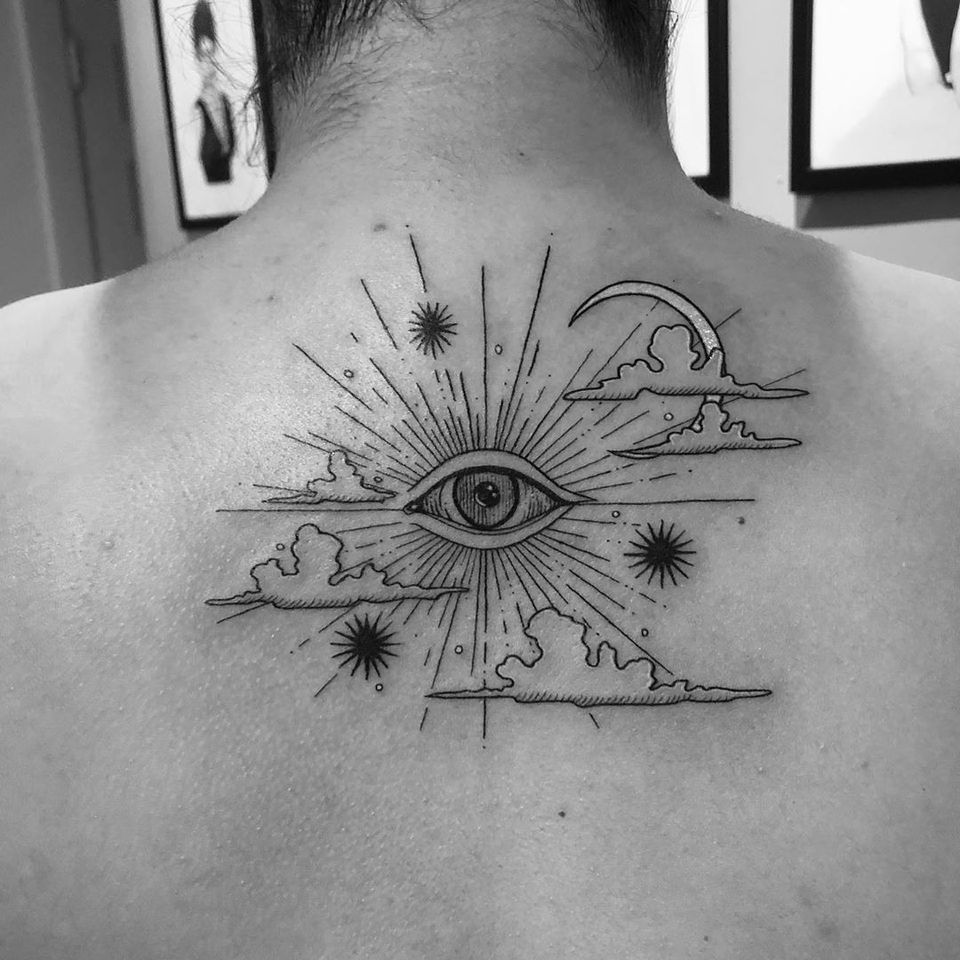All seeing eye tattoo by mayflowerink #mayflowerink #allseeingeye #allseeingeyetattoo #eye #eyetattoo #eyeball