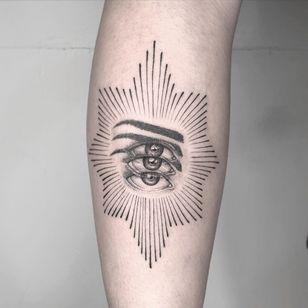 All seeing eye tattoo by Yatzil Elizalde #YatzilElizalde #allseeingeye #allseeingeyetattoo #eye #eyetattoo #eyeball