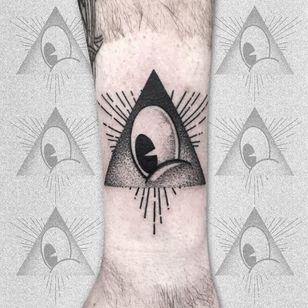 All seeing eye tattoo by Sebastien Gee #SebastienGee #allseeingeye #allseeingeyetattoo #eye #eyetattoo #eyeball