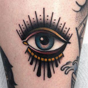 All seeing eye tattoo by Tobias Schneider #TobiasSchneider #allseeingeye #allseeingeyetattoo #eye #eyetattoo #eyeball