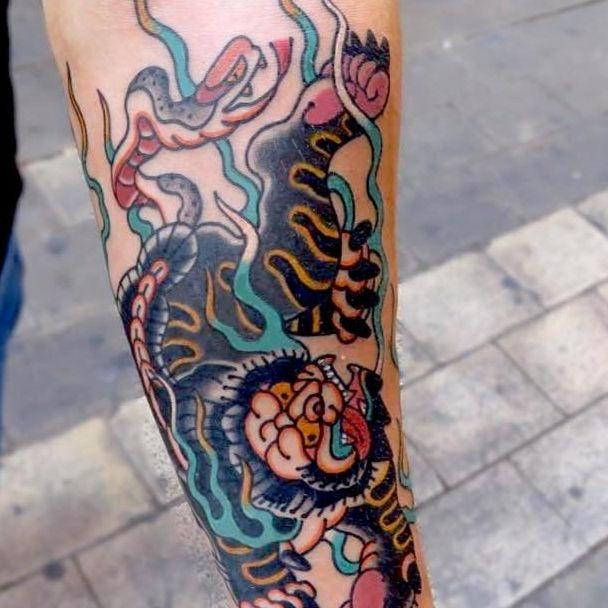 Nue tattoo by Jun chihara #JunChihara #nuetattoo #nue #japanesetattoos #japanese #irezumi #japanesemythology #mythology