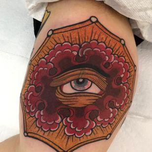 All seeing eye tattoo by Alfredo Guarracino aka alboy #alboy #alfredoguarracino #allseeingeye #allseeingeyetattoo #eye #eyetattoo #eyeball