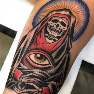 All seeing eye tattoo by Death Cloak #DeathCloak #allseeingeye #allseeingeyetattoo #eye #eyetattoo #eyeball