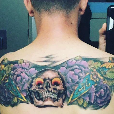Artist unknown #tattoocoverup #backtattoo #regrettattoo