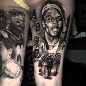 Kobe Bryant tattoo by Vanessa Aurelia #VanessaAurelia #kobebryanttattoo #kobebryant #Lakers #24 #basketball #sports #memorialtattoo