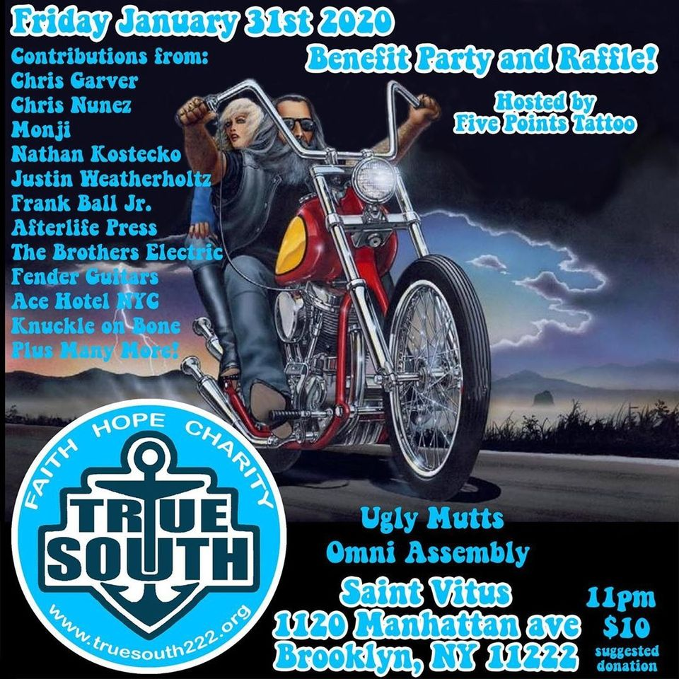 True South Benefit Party and Raffle hosted by Five Points Tattoo at Saint Vitus in NYC #fivepointstattoo #truesouth #charity #event #saintvitus #nyc #newyork