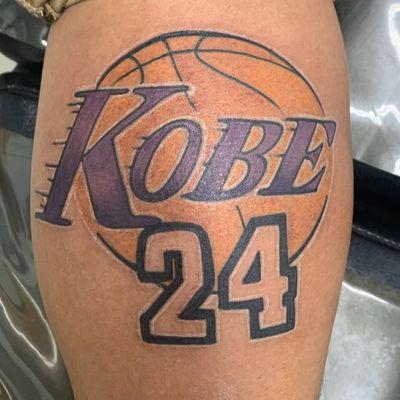 Kobe Bryant tattoo by Franky Dominquez #FrankyDominquez #kobebryanttattoo #kobebryant #Lakers #24 #basketball #sports #memorialtattoo