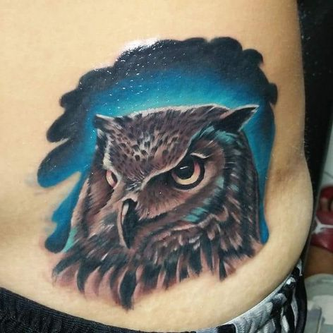 Cover up by Macoy Flores #tattoocoverup #owltattoo #ribtattoo #regrettattoo