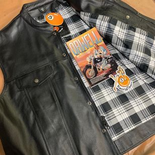 Leather vest from Five Ball Leathers