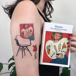 Matisse tattoo by dirtyrandytattoo #dirtyrandytattoo #matisse #modernart #art #fineart #paintingtattoo