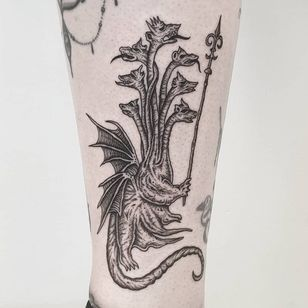 Esoteric tattoo by Josef Batar #JosefBatar #Esoteric #Esoterictattoo #Esoterictattoos #alchemytattoo #alchemytattoos #occult #dragon #darkart
