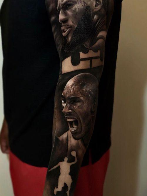 Kobe Bryant tattoo by Ganga Tattoo #Ganga #GangaTattoo #kobebryanttattoo #kobebryant #Lakers #24 #basketball #sports #memorialtattoo