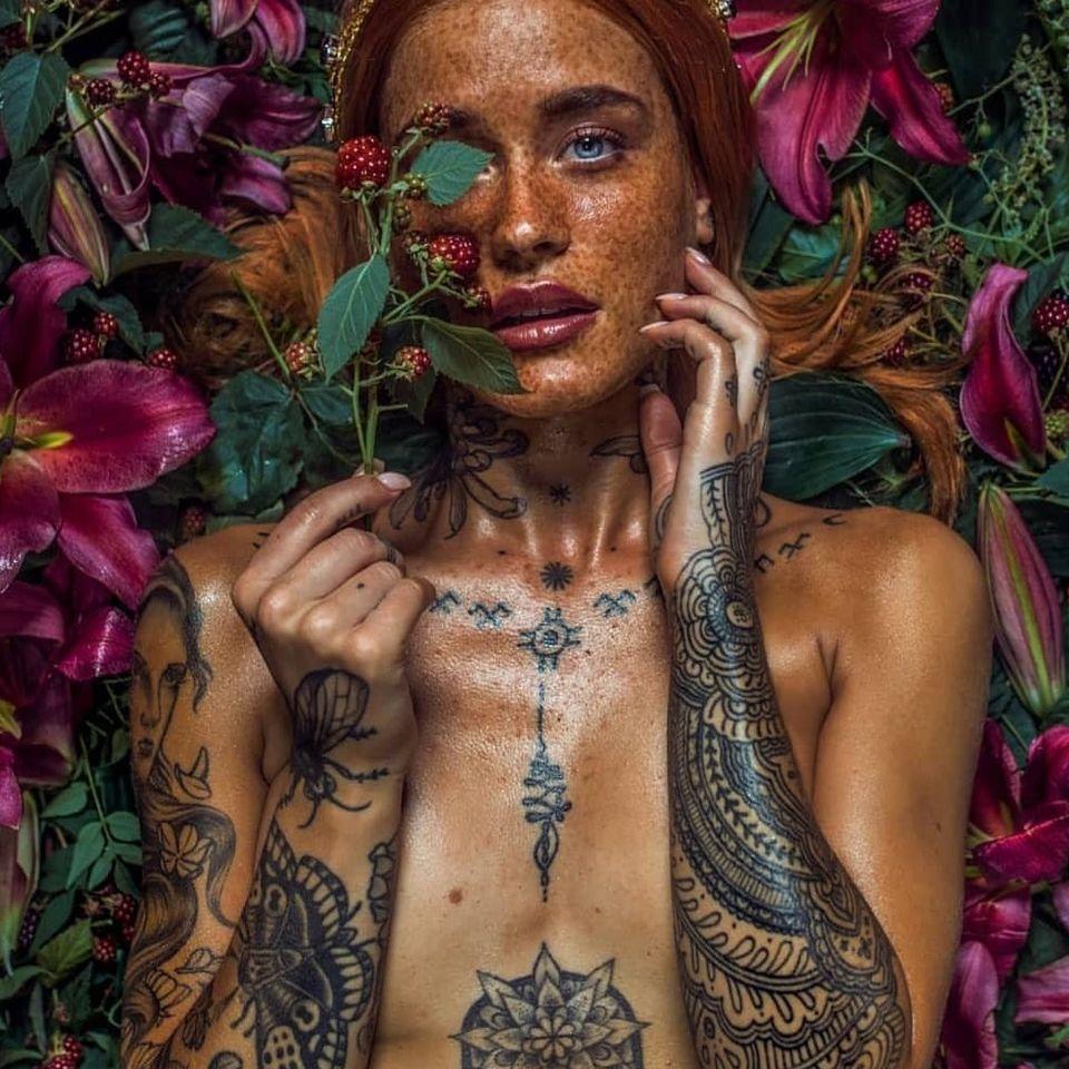 Polly Ellens photographed by Haris Nukem #PollyEllens #HarisNukem #tattoomodel #tattooedmodel