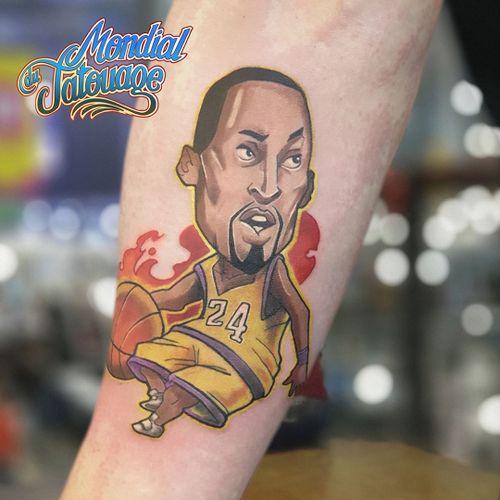 Kobe Bryant tattoo by Golem aka laurianroo #Golem #laurianroo #kobebryanttattoo #kobebryant #Lakers #24 #basketball #sports #memorialtattoo