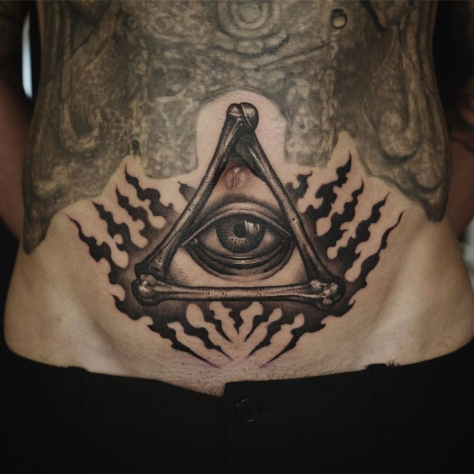 All seeing eye tattoo by taesin tattoo #taesintattoo #allseeingeye #allseeingeyetattoo #eye #eyetattoo #eyeball