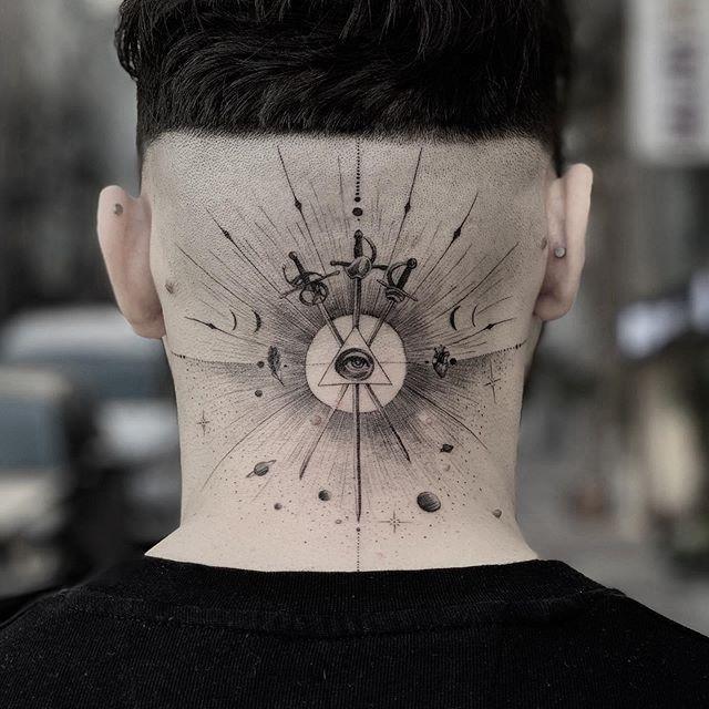 All seeing eye tattoo by alianilercel #alianilercel #allseeingeye #allseeingeyetattoo #eye #eyetattoo #eyeball