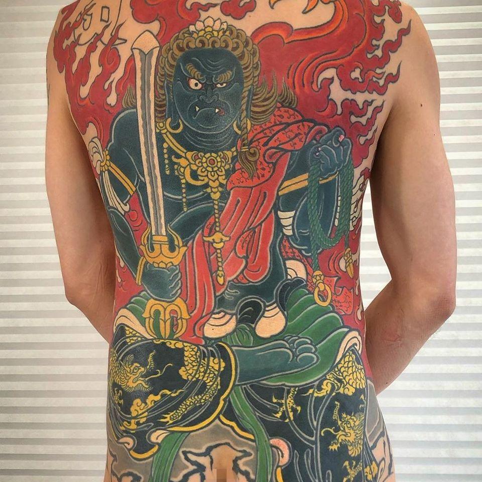 Fudo Myoo tattoo by Horitomo of State of Grace #Horitomo #StateofGrace #FudoMyoo #FudoMyootattoo #japanesetattoos #japanese #irezumi #japanesemythology #mythology