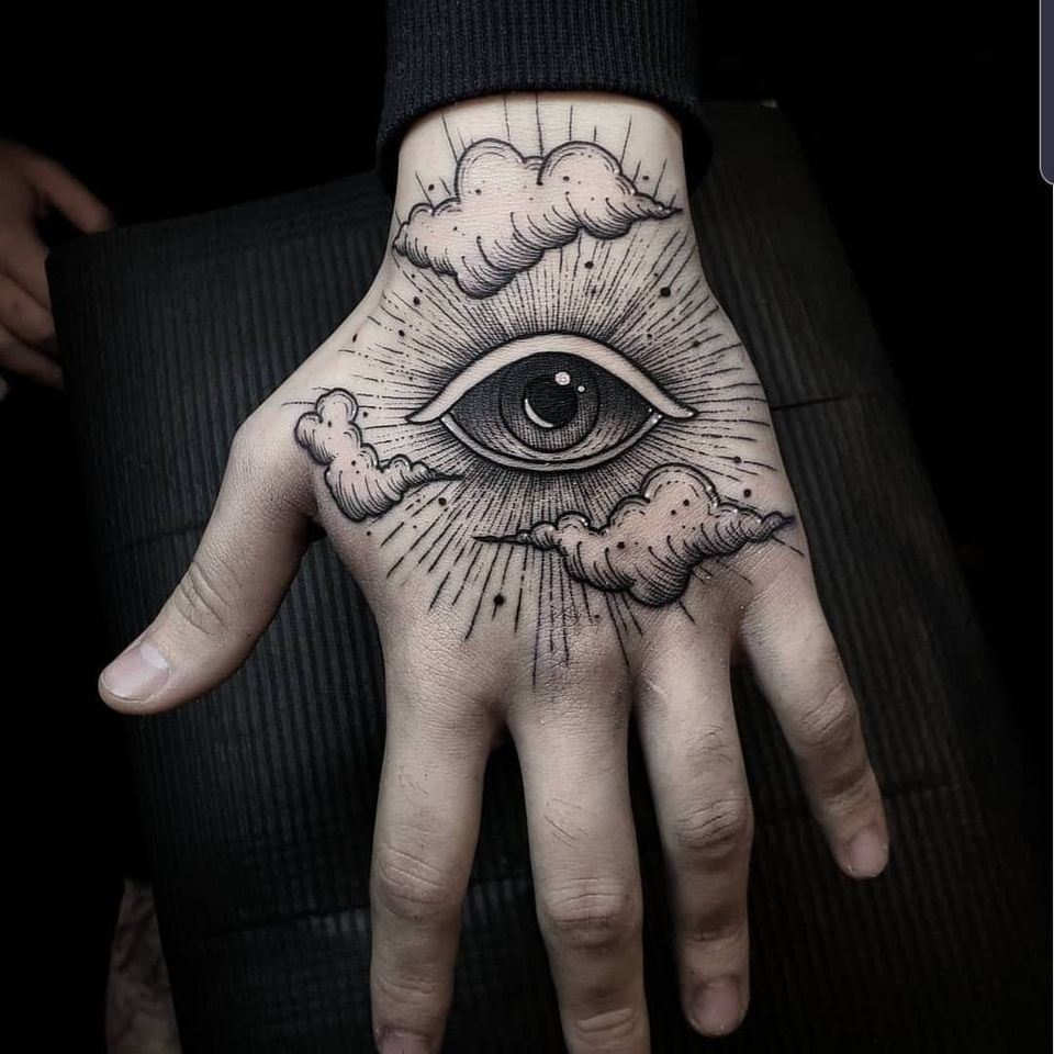 All seeing eye tattoo by Thomas E #ThomasE #allseeingeye #allseeingeyetattoo #eye #eyetattoo #eyeball