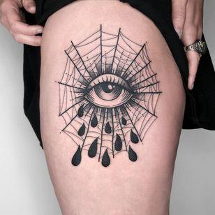 All seeing eye tattoo by Jenny MY Dubet #JennyMYDubet #allseeingeye #allseeingeyetattoo #eye #eyetattoo #eyeball