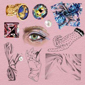 Tattoo flash by Anya Tsyna #AnyaTsyna #illustrative #realism #color #surreal #strange #unique #gems #diamond #ornamental #jewelry #fineart