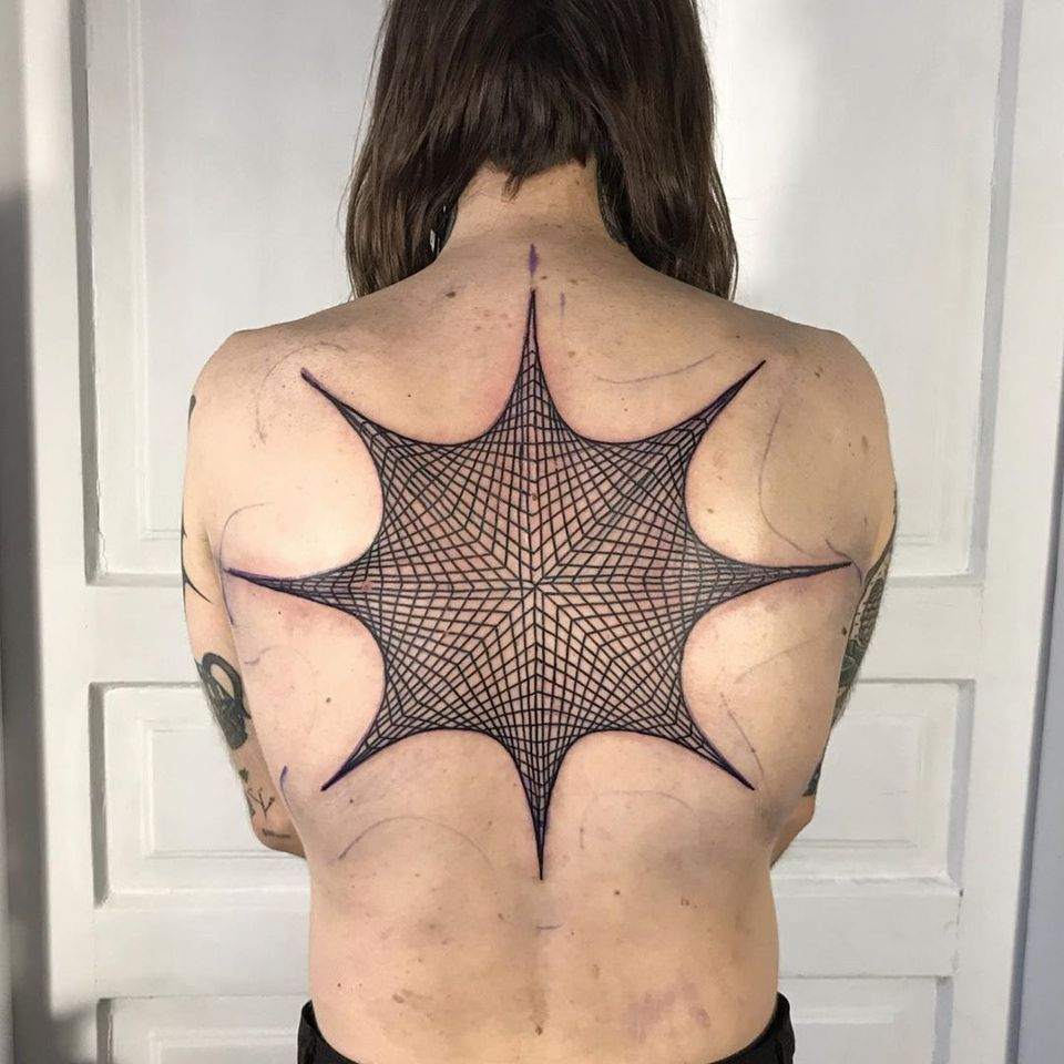 Illustrative tattoo by DSMT #DSMT #illustrative #blackwork #graphicart #anime #cyberpunk #surreal #darkart #linework #cyber #electronica #virtualreality