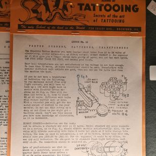 Zeis School of Tattooing #miltonzeis #tattoolessons #romatattoomuseum #tattoohistory #tattoomuseum #tattooculture #rome #italy