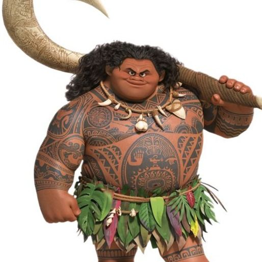 Maui's traditional Polynesian tattoos in Moana #iconicfilmtattoos #Disneytattoos #movietattoos #Polynesiantattoos #Samoantattoos #tribaltattoos #tamoko #Moana