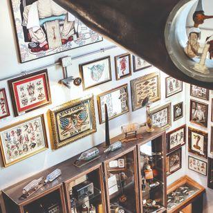 Roma Tattoo Museum, photo credit: Stefania Villani #tattoohistory #tattoomuseum #tattooculture #romatattoomuseum #rome #italy