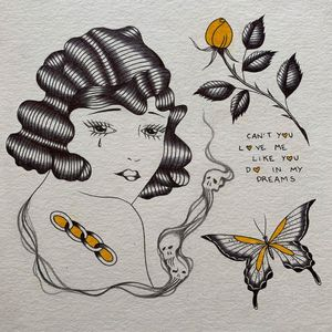 Illustration by Alma Proenca #AlmaProenca #TwoHandsTattoo #Auckland #NewZealand #tattooapprentice #tattooflash #tattooillustration