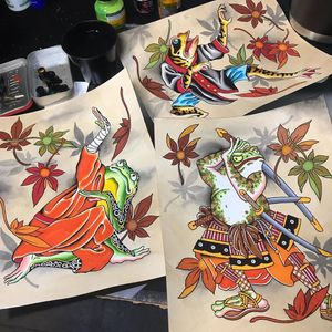 Paintings by Shaun Topper #ShaunTopper #tattooartistart #tattooart #tattooflash #tattooartwork