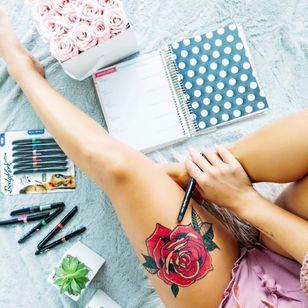 Dee aka followdee trying out BodyMark pens! #tattoopens #temporarytattoo #temptattoo #DIYtattoo