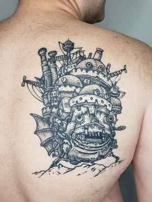 Howl's Moving Castle tattoo by Nevada Buckley #NevadaBuckley #howlsmovingcastle #castle #howl #StudioGhibli #anime #manga #movie