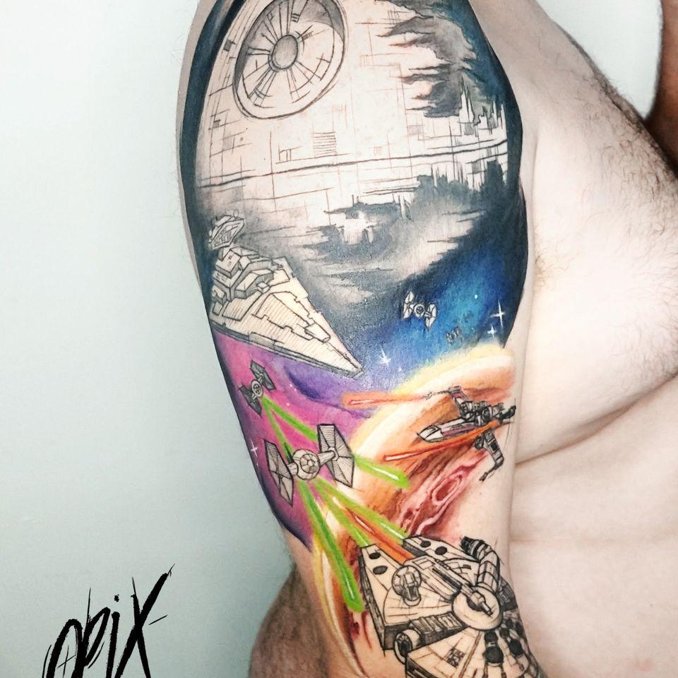 #RogerioOpix #OpixTattoo #nerd #geek #colorida #colorfull #starwars