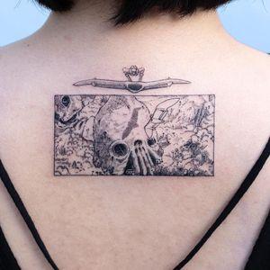 Nausicaa tattoo by Oozy #Oozy #nausicaa #linework #fineline #StudioGhibli #anime #manga #movie