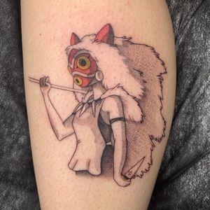 Princess Mononoke tattoo by caelarae #caelarae #princessmononoke #san #warrior #mask #StudioGhibli #anime #manga #movie