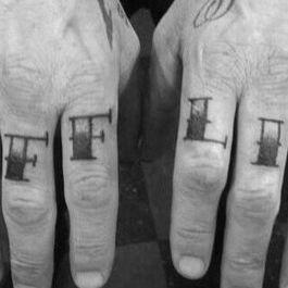 James Hetfield's bold knuckle tattoos #JamesHetfield #musictattoos #bestrockstartattoos #knuckletattoos