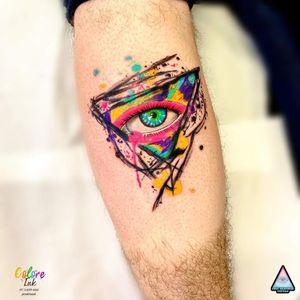 #olhoquetudove #allseeingeyes #olho #eye #EricSkavinski #colorido #colorful #aquarela #watercolor