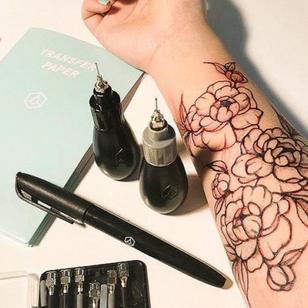 Inkbox's temporary tattoo ink kit! #inkbox #temporarytattoo #temptattoo #DIYtattoo #temporarytattooink