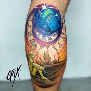 #RogerioOpix #OpixTattoo #nerd #geek #tardis #colorida #colorful