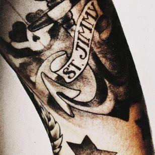 Billie Joe's Jesus of Suburbia tattoo #GreenDay #bestrockstartattoos #punkrock #BillieJoeArmstrong #JesusofSuburbia #AmericanIdiot