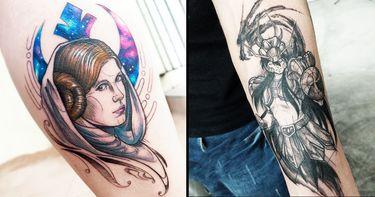 20 Tatuagens Nerd Viciantes Do Designer Rogério Opix