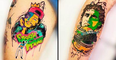 20 Tatuagens Ultra Coloridas Do Artista Eric Skavinski