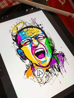 Criação no iPad #EricSkavinsk #chesterbennington